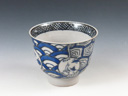 photo Japanese pottery sake cup (Hasami-Yaki)