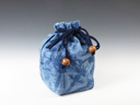 "photo Sake cup pouch (Japan Blue ""Siborizome"" style)"