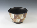 photo Japanese pottery sake cup (Kasama-Yaki)
