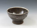 photo Japanese pottery sake cup (Onta-Yaki)