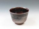 photo Japanese pottery sake cup (Takatori-Yaki)