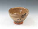 photo Japanese pottery sake cup (Sakatsu-Yaki)