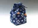 photo Sake cup  pouch (Splashed pattern)