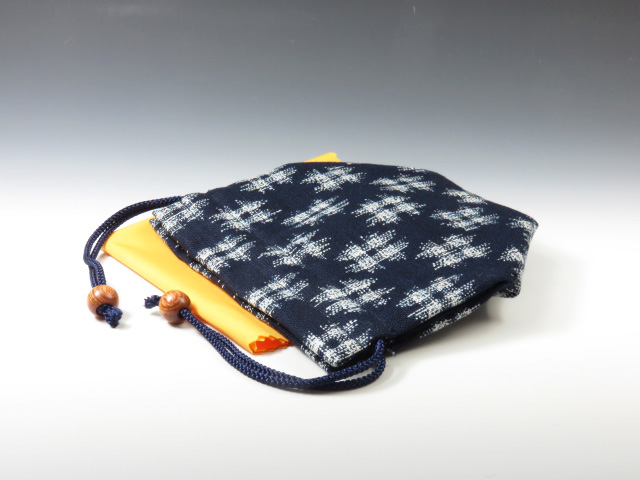 Sake Cup  Pouch (Sharp pattern woven with uneven thread)