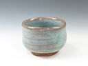 photo Japanese pottery sake cup (Shibutami-Yaki)