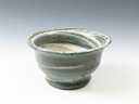 photo Japanese pottery sake cup (Ashio-Yaki)