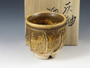 photo Japanese pottery sake cup (Shinjyohigashiyama-Yaki)