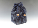 "photo Sake cup  pouch (""Bushyu"" Indigo-dying  Narcissus)"