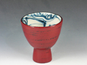 photo Japanese pottery sake cup(Mino-Yaki)