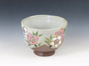 photo Japanese pottery sake cup (Kyo-Yaki)