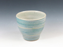 photo Japanese pottery sake cup (Unshu-Gama)