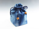 "photo Sake cup pouch (Japan Blue ""Danzome"" style)"
