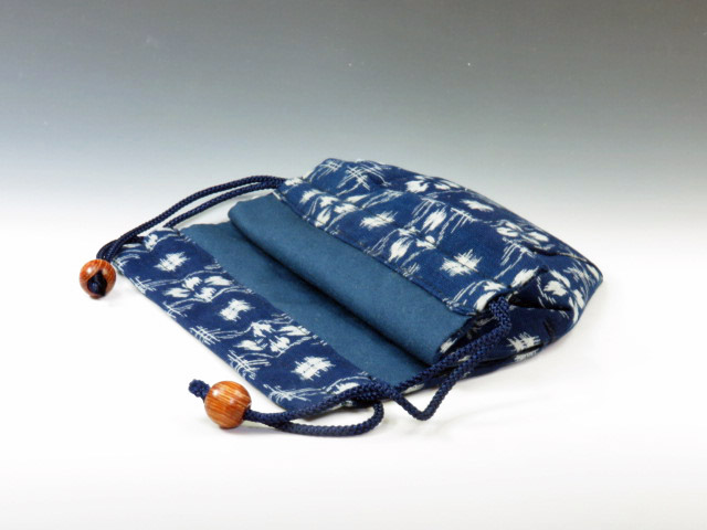 Sake cup  pouch (Splashed pattern)