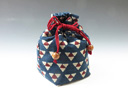 photo Sake cup pouch (Mitsuuroko triangle pattern)