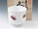 photo Japanese porcelain sake cup (Izushi-Yaki)