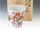 photo Japanese pottery sake cup (Zeze-Yaki)