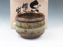 photo Japanese pottery sake cup (Tateoka-Yaki)