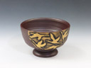 photo Japanese pottery sake cup (Banko-Yaki)