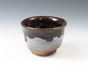 photo Japanese pottery sake cup (Narushima-Yaki)