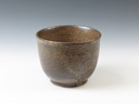 photo Japanese pottery sake cup (Uchiharano-Yaki)