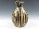 photo Japanese pottery sake serving bottle (Koito-Yaki)