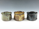 photo Japanese pottery sake cup set (Koito-Yaki)