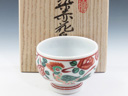 photo Japanese porcelain sake cup (shibukusa-Yaki)