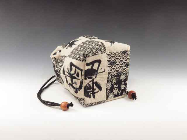 Japanese sake cup pouch (Oriental Zodiac Letters)