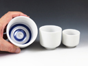 photo Mino-Yaki (Gifu) Porcelain Sake tasting cup set 4MIN0068