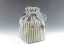 photo Sake cup pouch (Kawagoetozan White stripes)