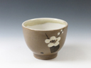 photo Japanese pottery sake cup (Ushinoto-Yaki)