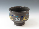 photo Japanese pottery sake cup (Osarappe-Yaki)
